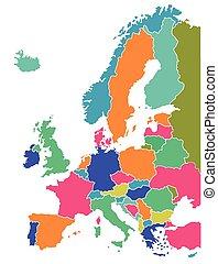 mappa, europeo