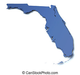 mappa, -, florida, stati uniti