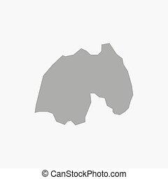 mappa fondo, grigio, bianco, ruanda