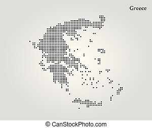mappa, greece., vettore, illustration., mondo