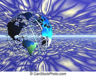 mappa, griglia, space., mondo
