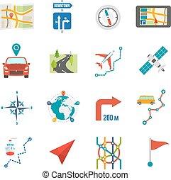mappa, icone, appartamento