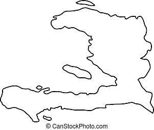 mappa, illustrazione, contorno, vettore, nero, curve, fondo,...