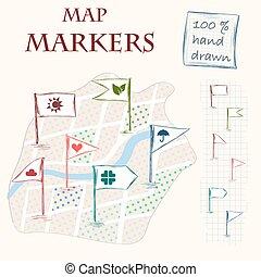mappa, marcatori