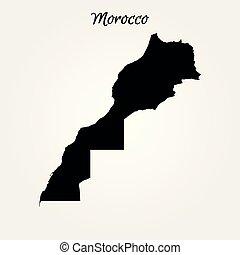 mappa, marocco