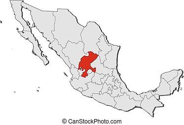 Zacatecas illustrazioni e - Mappa messico mappa da colorare pagina ...
