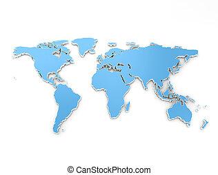 mappa mondo, 3d