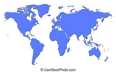 mappa mondo