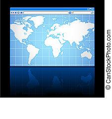 mappa mondo, browser internet