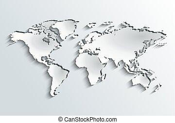 mappa mondo, carta, sbucciatura