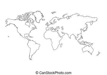 Profilo mondo mappa mappa contorno mondo pendenza - Mappa del mondo contorno ks2 ...