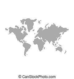 mappa mondo, disegno, icona