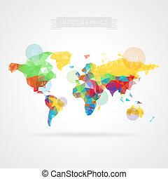 mappa mondo, elementi, infographics