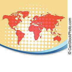 mappa mondo, fondo, eps10