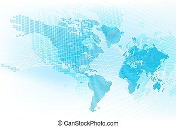mappa mondo, globale, estratto terra, fondo