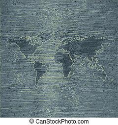 mappa mondo, icona, disegno web, appartamento
