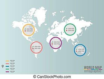 mappa mondo, infographics