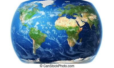 mappa mondo, involucri, a, globo, (white, bg)