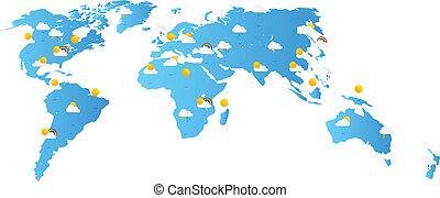mappa mondo, previsione tempo