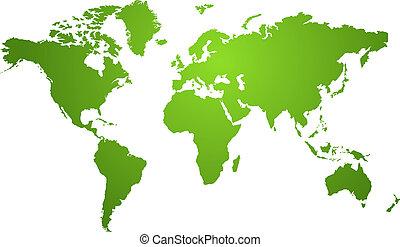 mappa mondo, verde