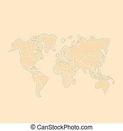 mappa mondo, vettore