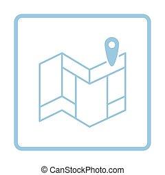 mappa, navigazione, icona