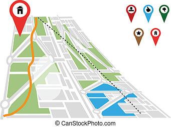 mappa, navigazione