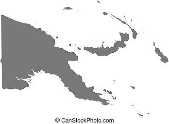 mappa, -, papua nuova guinea