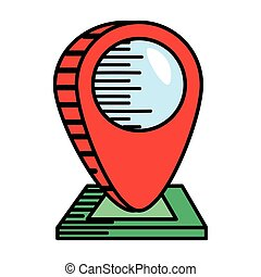 mappa, puntatore, navigazione, posizione