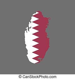 mappa, qatar, silhouette