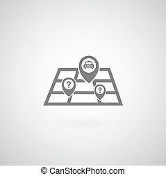 mappa, simbolo, vettore