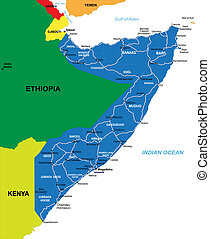 mappa, somalia