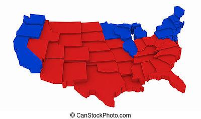 mappa, stati uniti, presidenziale, 2004, elezioni