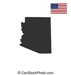 mappa, stati uniti., stato arizona