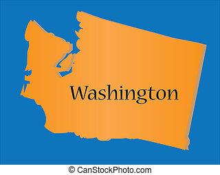 mappa, stato, washington
