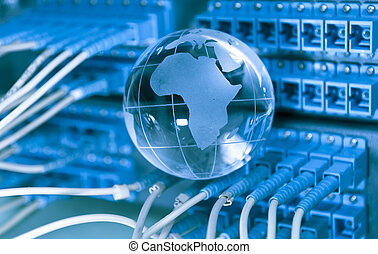 mappa, stile, fibra ottica, contro, fondo, mondo, tecnologia