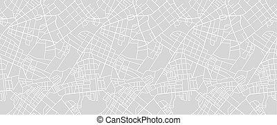 mappa strada, di, città
