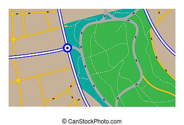mappa strada