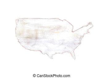 mappa, unito, -, stati, textured, america