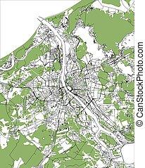 mappa urbana, riga, lettonia