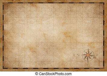mappa, vecchio, fondo, vuoto