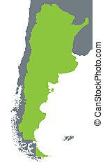 mappa verde, di, argentina