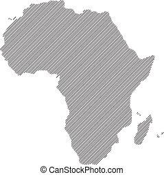 mappa, vettore, concetto, africa