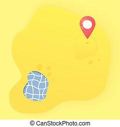 mappa, vettore, pointer., composizione, mark., posizione, illustration.