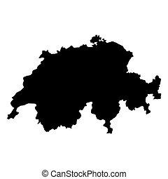 mappa, vettore, svizzera