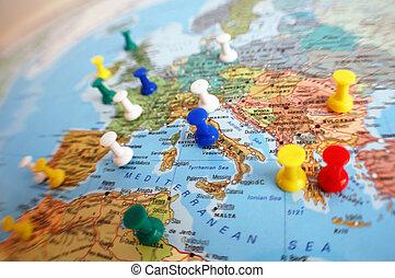 mappa, viaggiare