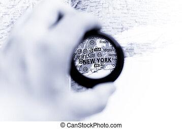 mappa, york, nuovo