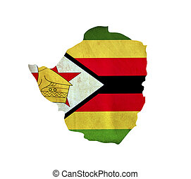 mappa, zimbabwe, isolato