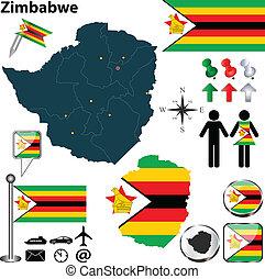 mappa, zimbabwe