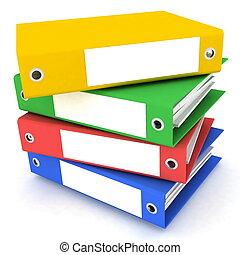 mappar, för, papper